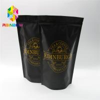 Stand Up Plastic Pouches Packaging Coffee Bag With Zipper And Valve