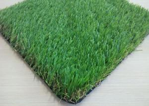 China Straight Outdoor Artificial Turf 32mm Environmental Friendly Stem Shape on sale