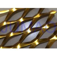 China 3D Anodized Expanded Aluminium Mesh?, Gold Flattened Expanded Metal Screen Mesh on sale