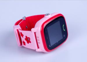China 3 Colors Portable GPS Tracker , Interaction Touch Screen GPS Tracker Watch For Family on sale