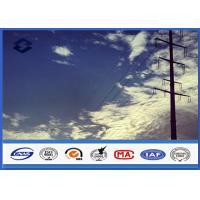 HDG Steel Q345 Gr50 Electrical power Tubular pole , Sub Transmission Pole with Min Zinc Coating 86 microns