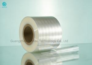 China Transparent Biaxially Oriented Polyethylene Film For Tobacco / Cigarette Packaging on sale