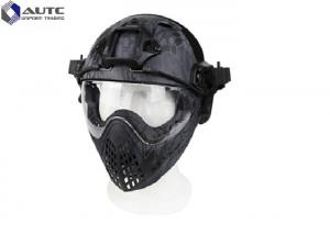 China TPU PC Lens High Cut Ballistic Helmet Accessories With Face Shield supplier