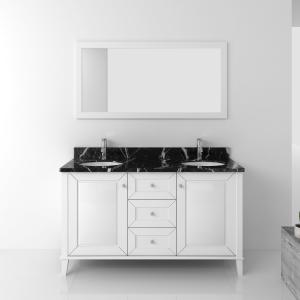 Quality Modern Sanitary Furniture Bathroom Cabinet Sets With Double Basin for sale