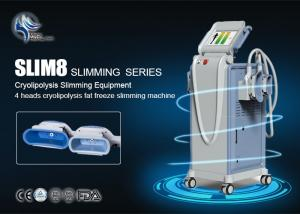 China 1800W Strong Cooling Cryolipolysis Fat Loss Machine With 4 Handles , CE Approval on sale