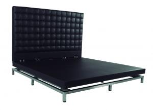 Quality Oversized Platform Bed With Diamonds Plush Design Upholstered Velvet Fabric for sale