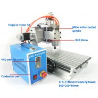 China Precision Mini 800w 3 Axis Desktop 3020 CNC Router Machine Water Cooling on sale