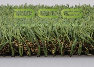 China Green And Brown Artificial Grass Landscaping For Parks Or Rooftop on sale