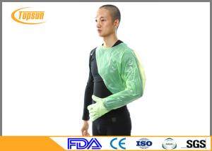 China Disposable Veterinary Plastic Full Arm Length Gloves Soft 120cm Green Color on sale
