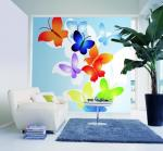 PVC, Fabric Animal Series Butterfly Customized Hotel, Spa, Househole Wallpapers DW-011