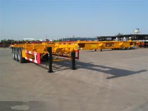 China 3 axle skeletal chassis skeletal semi trailer supplier on sale