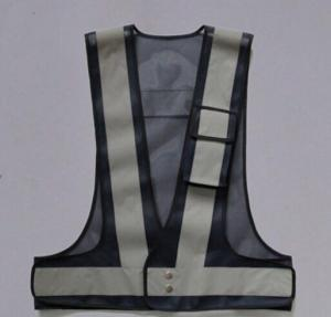 China Grey Color Reflective Safety Vest With Security Warning Reflective Tape on sale