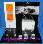 Popular Custom Luxury Acrylic Display Stand For Watch with C Clip