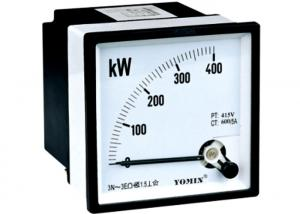 China 380V 300 / 5A 3 Phase Electronic Apparatus Active Power Meter Analog Panel Meter on sale