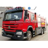 266HP Engine 4600mm Wheel Firefighter Truck Sinotruck 16000 Liter Water Foam