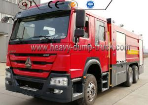 China 266HP Engine 4600mm Wheel Firefighter Truck Sinotruck 16000 Liter Water Foam on sale