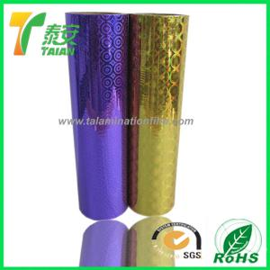 China Transparent Holographic Lamination Film with clear image and amazing looking on sale
