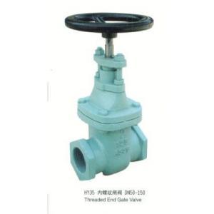 China Soupape à vanne résiliente de Seat de fin de fil petite, soupape à vanne malléable de fer de PN 10 on sale