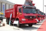 6x4 Full Fender EURO III in White Yellow and Red HOWO Heavy Duty Dump Truck Tipper Truck