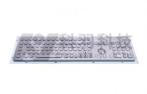 China 106 Key Stainless Steel Keyboard With Trackball , Full Function Keys And Numeric Keypad on sale