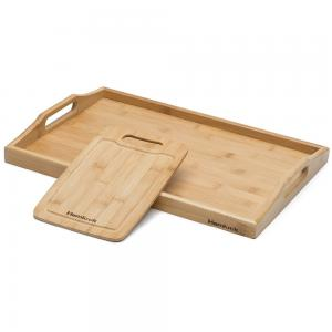 China bamboo wood serving trays with cutting board on sale