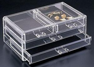 China Non-toxicity Clear Acrylic Storage Boxes , Acrylic Organic Makeup Storage Organizer on sale