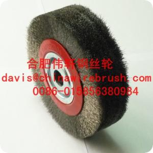 China Crimped Stainless Steel Circular Brushes for machine on sale