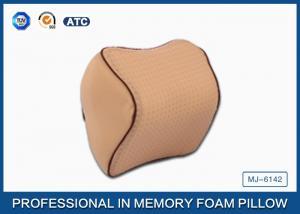 China Pique Mesh Cover Memory Foam Car Neck Pillow , Auto Car Neck Support Polyurethane Cushion on sale