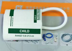 China Plastic NIBP Cuff , TPU Disposable Blood Pressure Cuffs In White Color on sale