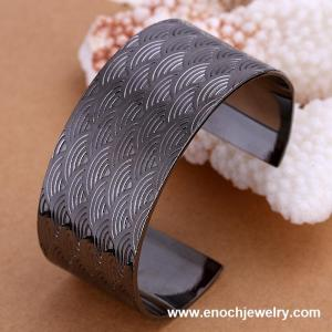 China Open Silver Friendship Bracelets Black Bangle on sale