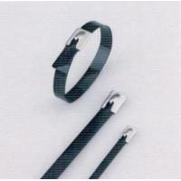 Heat Resistant Stainless Steel Roller Ball Cable Ties , Tightening Metal Cable Ties