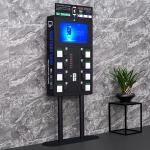 Pad Lock Kiosk Machine For Cell Phones , Stable Wall Mounted Phone Charging Station