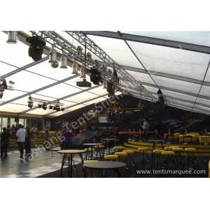 China Lighting Stand Aluminum Alloy Frame waterproof outdoor tent 20m Span White PVC Fabric Cover on sale