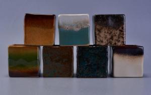 China Porcelain Ceramic Stoneware , Glaze Ceramic Candle Holder modern Style on sale