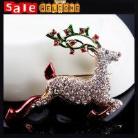 Full Rhinestone Crystal Animal Deer Brooch Pin Brooches for Women Man Factory Wholesale