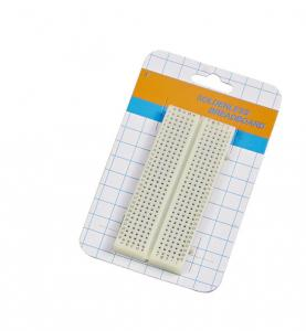 China 300 Tie Points Lab Electronics Test Board , White Experimental Soldered Breadboard on sale