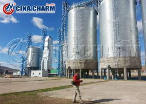 China 1000ton Wheat Corn Grain Storage Steel Silo / Poultry Chicken Feed Silo on sale