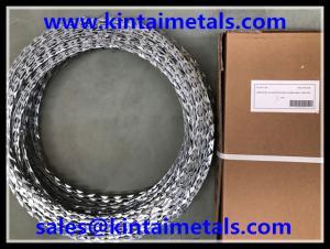 China 500mmは15m BTO-22鉄条網のためのアコーディオン式かみそりワイヤーに電流を通しました on sale