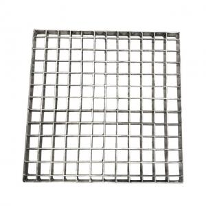 China OEM Press Lock Grating Metal Building Materials 33x33 Welded Silver Color on sale