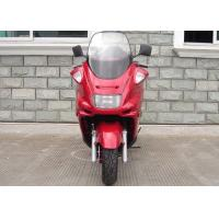 Red Motor Powered Scooter With Hand Brake , Motor Scooter 150cc With Strong Light