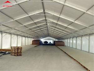 China Aluminum Structure Waterproof Industrial Storage Tents With Hard Hall on sale