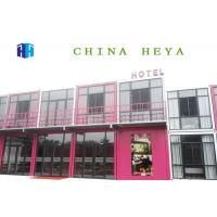 China Durable Double Storey Prefab House Modular Container Hotel Rooms 25 Years Life Span on sale