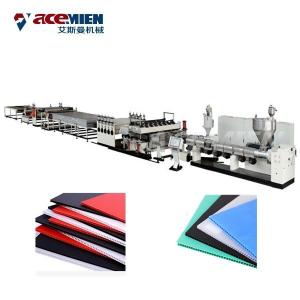 China Corrugated Plastic Sheets Extrusion Line , Polypropylene Hollow Fluted Sheet Machine on sale