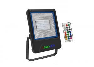 China Black housing 50W LED RGB flood Lights,RF control system ,IP66 Waterproof Rate. on sale