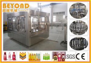 China Juice Filling Machine / Fruit Juice Bottling Machine For PET Bottles 3000BPH - 36000BPH on sale