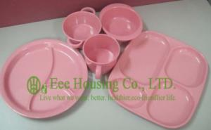 China Eco-friendly Bamboo Fiber Meal Box / Bowl /Cup/ Spoon for Children,Bamboo Fiber Dinnerware on sale