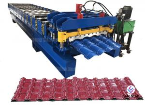 China Glazed Tile Corrugated Steel Roll Forming Machine Roofing Sheet MachineWith 18 Forming Stations on sale