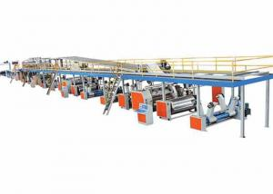 China 3 Ply Corrugated Carton Production Line , Steam Heating Paper Board Making Machine on sale