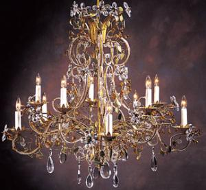 China Amber color K9 crystal chandelier with lamp shade on sale
