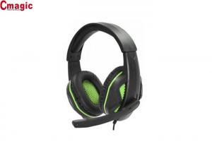 China Lightweight Pc Gaming Earphones , Soft PU Cool Usb Headphones With Mic on sale